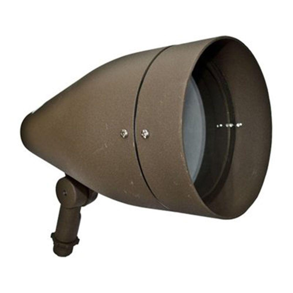 Skive 1-Light Bronze Outdoor Directional Spot Light
