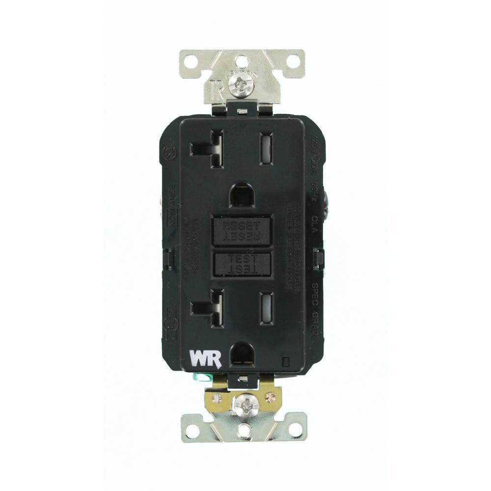 Garage Lights Gfci: Leviton 20 Amp SmartlockPro Industrial Grade Heavy Duty