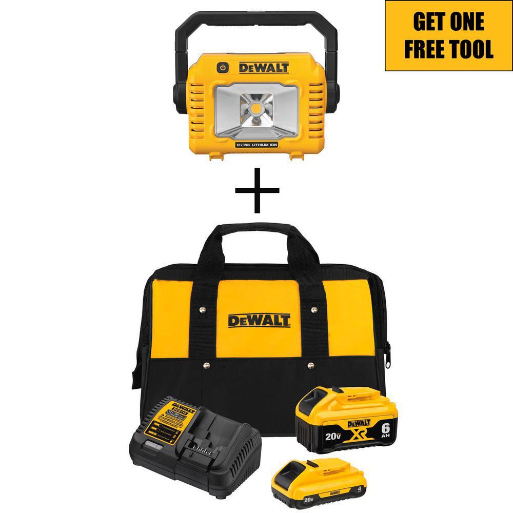 20-Volt MAX XR Starter Kit (1) 6.0Ah Battery & (1) 4.0Ah Battery with FREE 20-Volt Compact Task Light