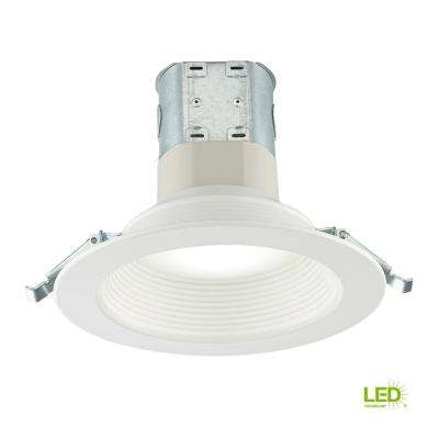 Easy-Up 6 in. White Baffle Integrated LED Recessed Kit with Selectable CCT (2700K-5000K), (No Can Needed)