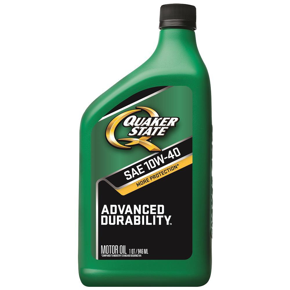 Quaker State 10W-40 Advanced Durability Conventional Motor Oil - 1 Qt.-550024059 - The Home Depot