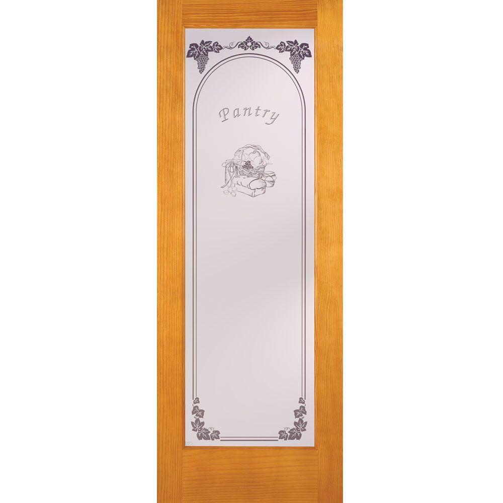 Feather River Doors 30 in. x 80 in. Pantry Woodgrain 1 Lite Unfinished Pine Interior Door Slab
