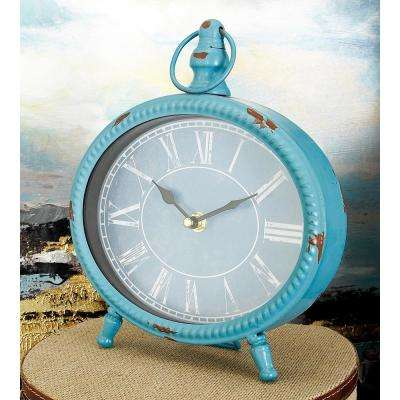 9 in. x 8 in. Multi Round Peg-Legged Table Clocks (Set of 4)