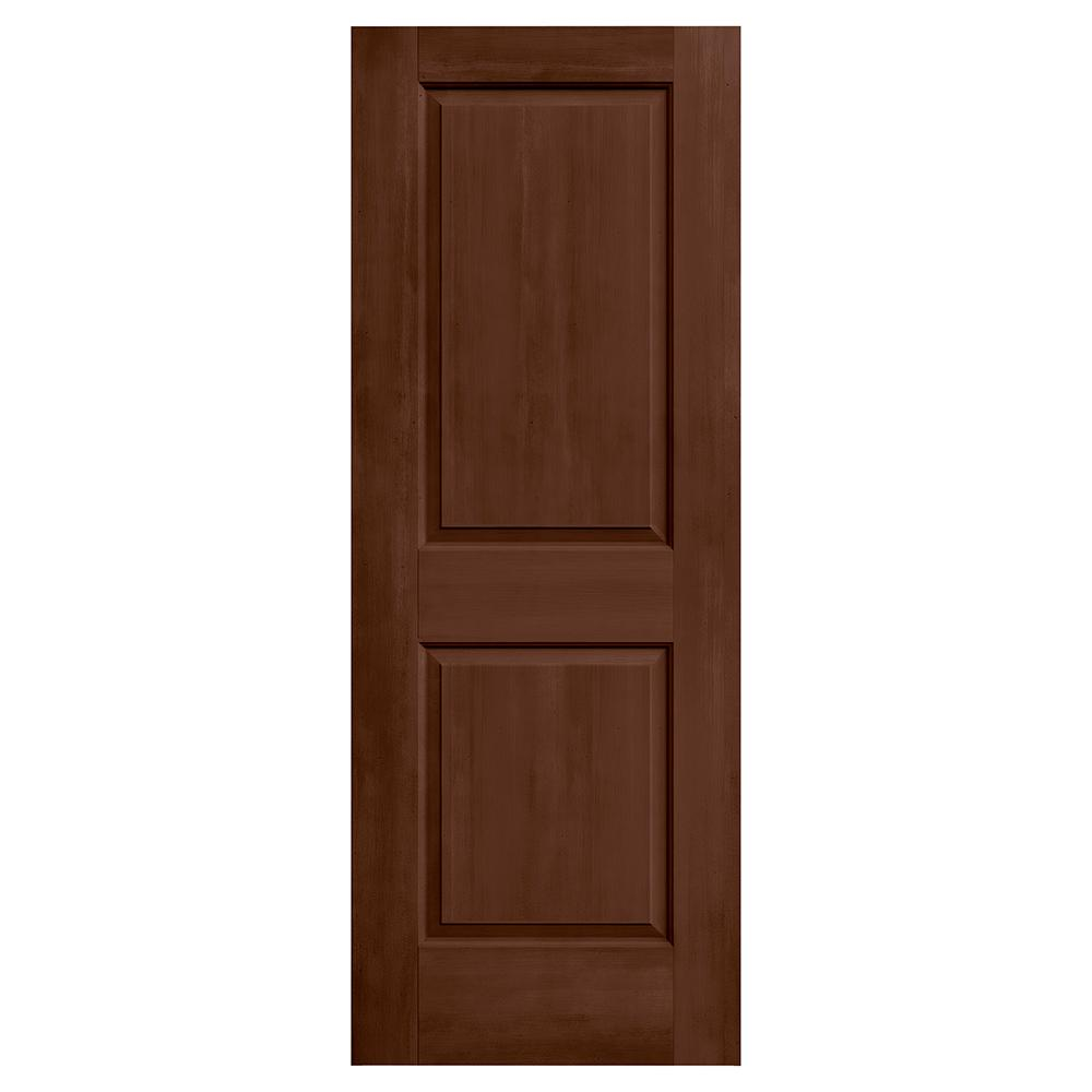 Jeld Wen 24 In X 80 In Cambridge Milk Chocolate Stain Solid Core Molded Composite Mdf Interior