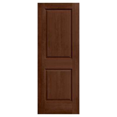 24 in. x 80 in. Cambridge Milk Chocolate Stain Solid Core Molded Composite MDF Interior Door Slab