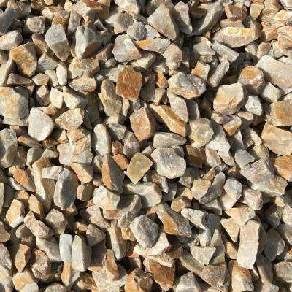 0.50 cu. ft. 40  lbs. 3/4 in. Golden Honey Quartz Decorative Landscaping Gravel (20-Bag Pallet)