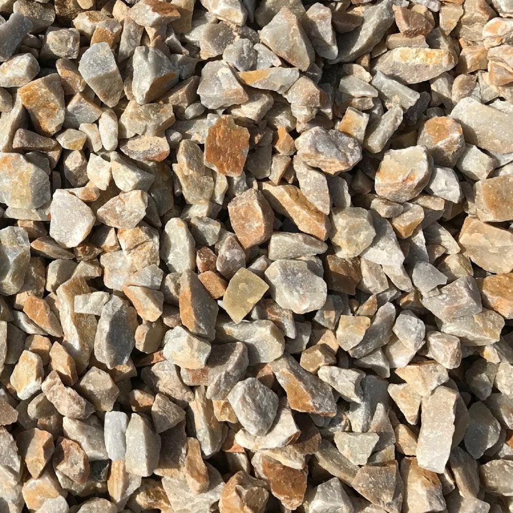 0.90 cu. ft. 75  lbs. 3/4 in. Golden Honey Quartz Decorative Landscaping Gravel (40-Bag Contractor Pallet)