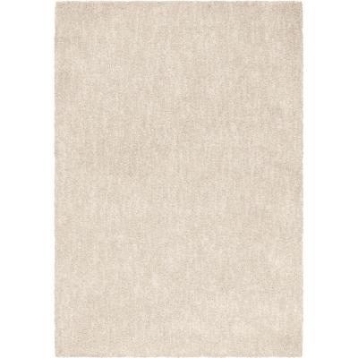 Solid Cream 9 ft. x 13 ft. Area Rug
