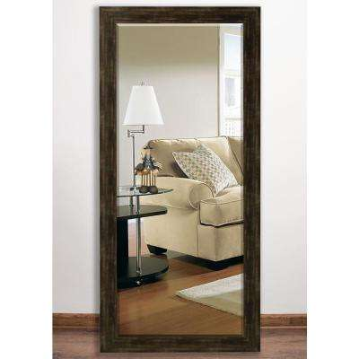 32 in. x 65.5 in. Brushed Classic Brown Beveled Full Body Mirror