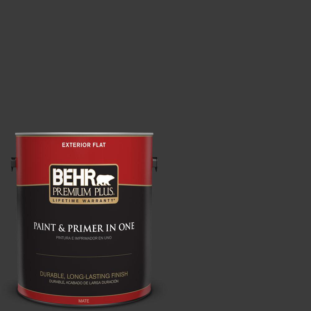 BEHR Premium Plus 1-gal. #770F-7 Beluga Flat Exterior Paint