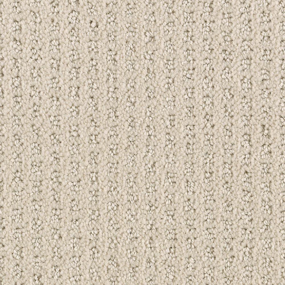 Game Face-Color Bone Textured 12 ft. Carpet