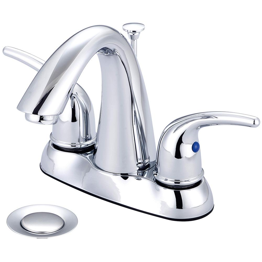 Elite 4 in. Centerset 2-Handle High-Arc Bathroom Faucet with Pop-Up Assembly in Polished Chrome