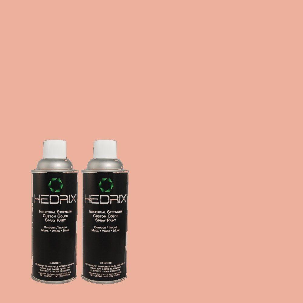Hedrix 11 oz. Match of 180C-3 Rose Linen Flat Custom Spray Paint (2-Pack)