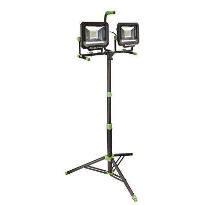 100-Watt (10,000 Lumens) LED Dual-Head Work Light with Tripod
