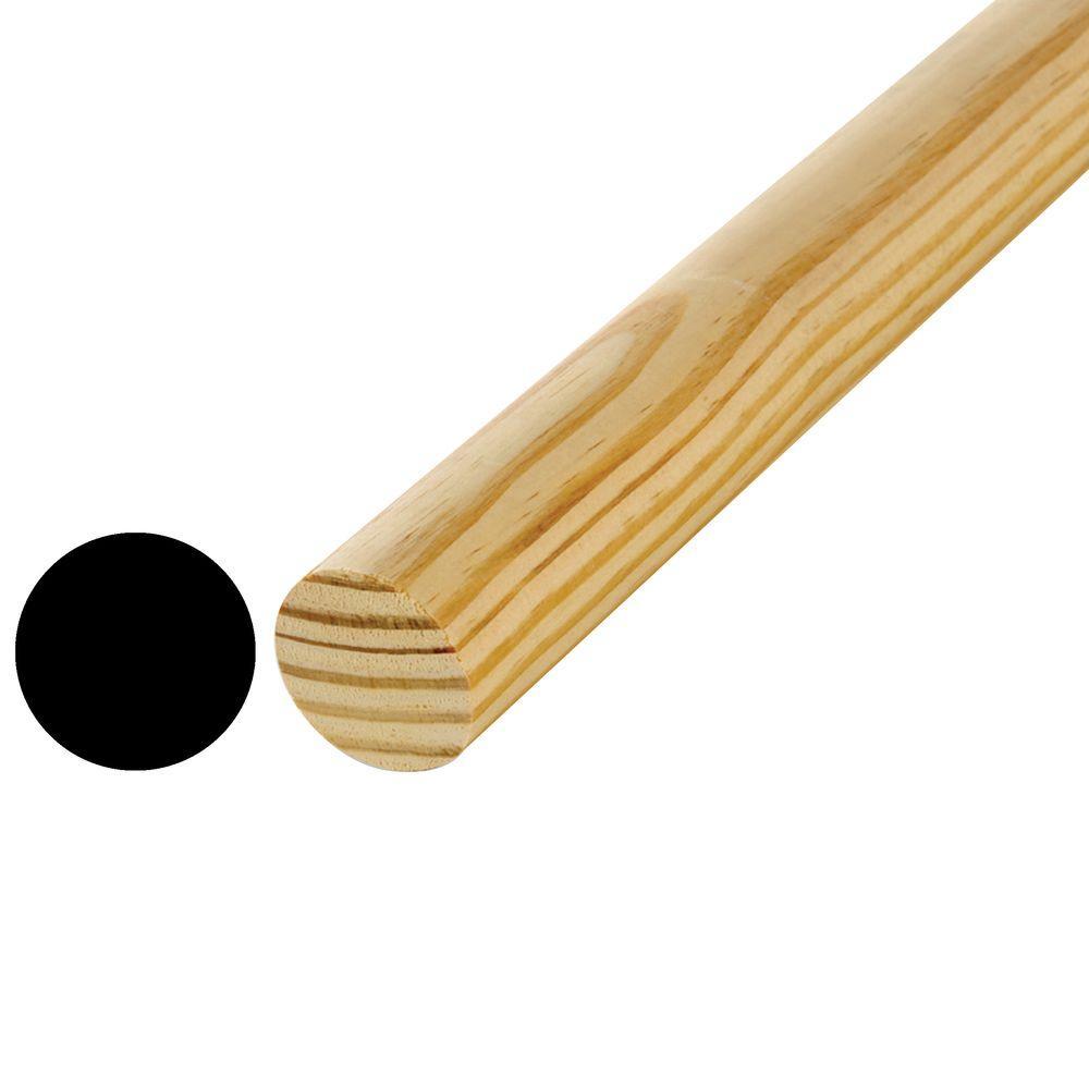 3/4 in. x 48 in. Hardwood Full Round Dowel