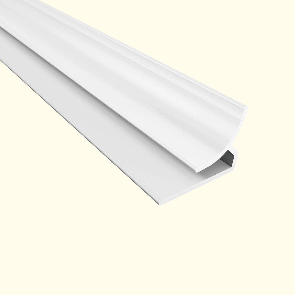 Fasade 4 ft. Gloss White Inside Corner Trim 162-00