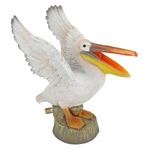 Oceanside Pelican Stone Bonded Resin Piped Spitting Statue