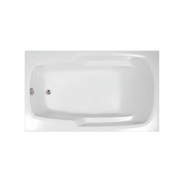 Hydro Systems Napa 66 In X 34 In Acrylic Rectangular Drop In Reversible Drain Bathtub In White Nap6634atow The Home Depot