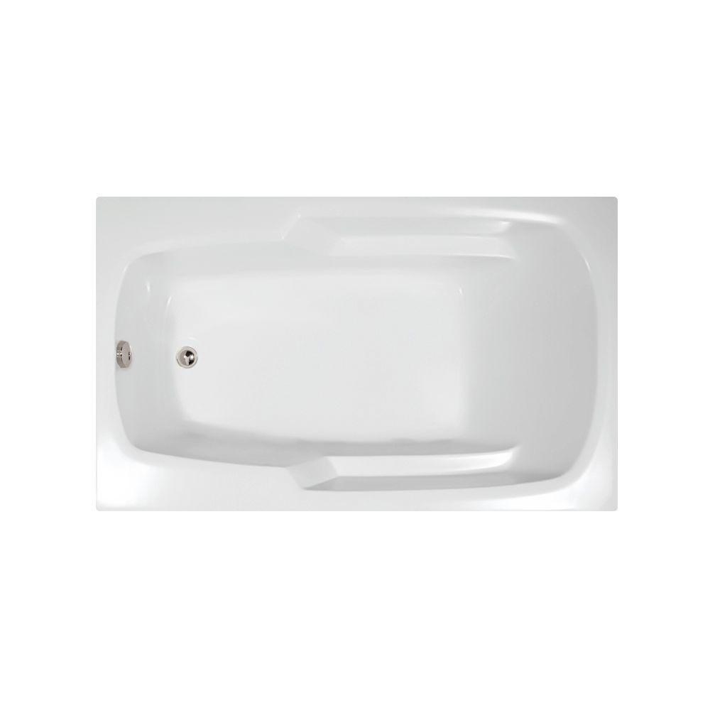 Napa 66 in. x 34 in. Acrylic Rectangular Drop-in Reversible Drain Bathtub in White