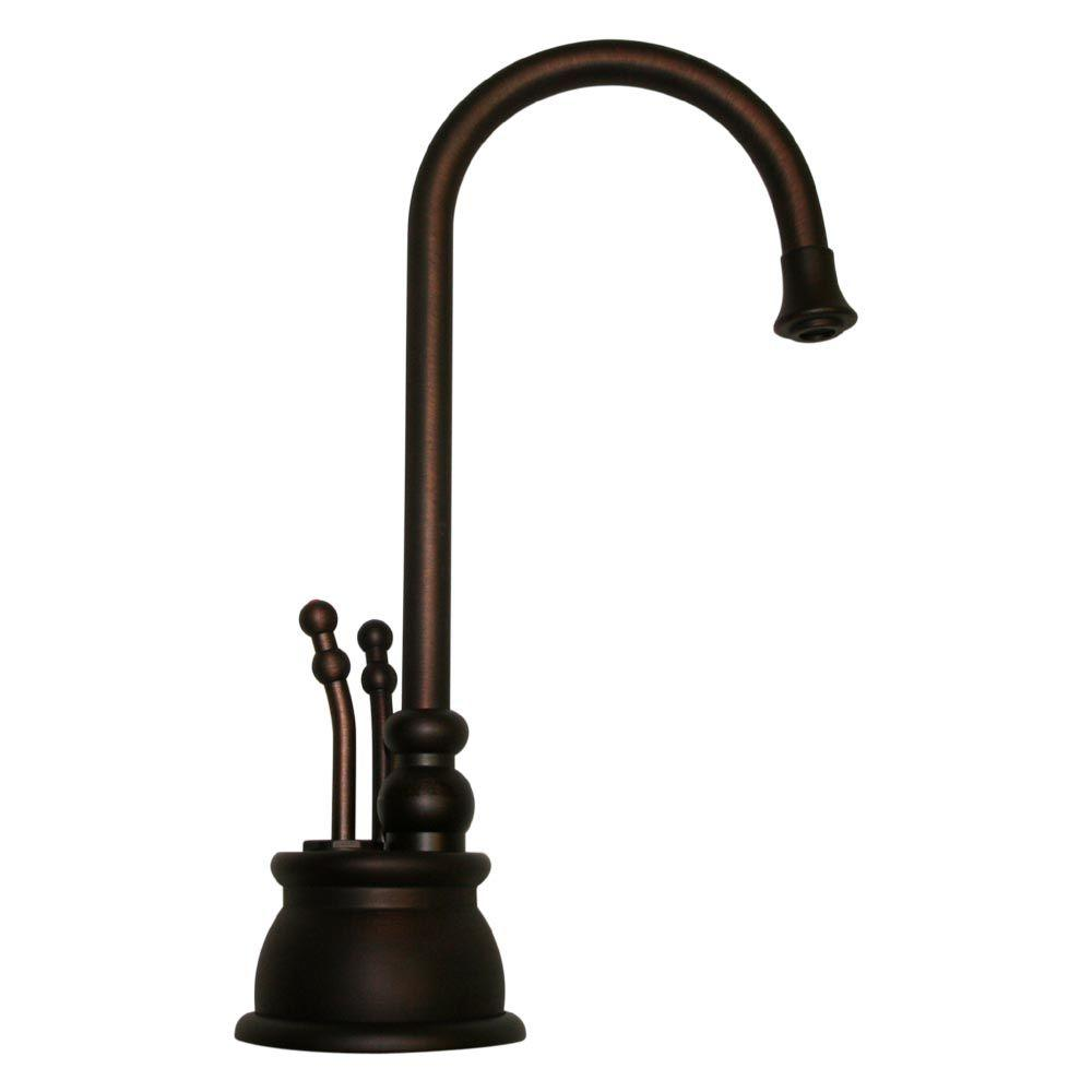 Whitehaus Collection 2-Lever Handle Instant Hot/Cold Water Dispenser in Mahogany Bronze