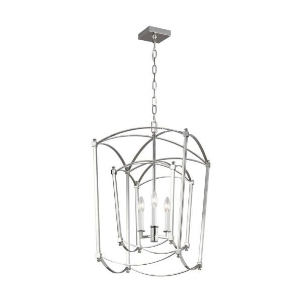 Thayer 3-Light Polished Nickel Chandelier