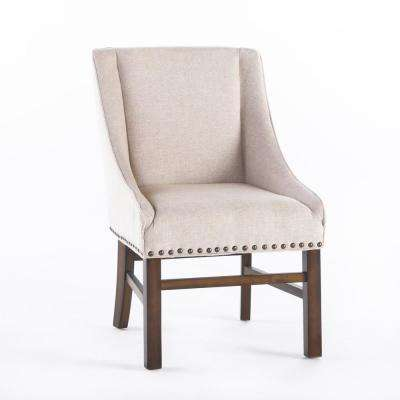 Beautiful James Natural Fabric Dining Chair