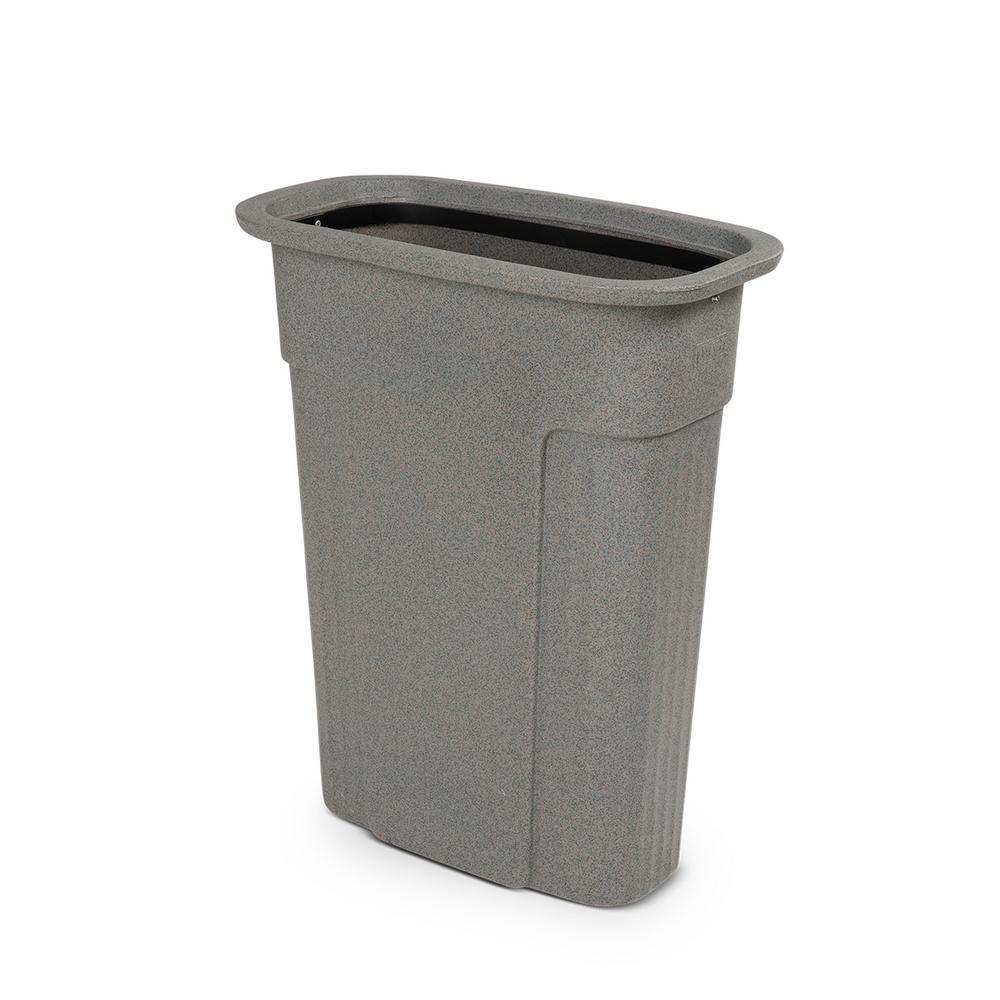 Slimline 23 Gal. Graystone Rectangular Trash Can