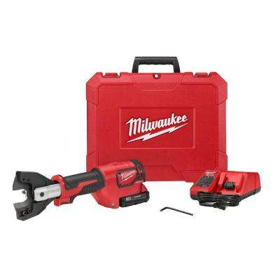 M18 18-Volt Lithium-Ion Cordless Cable Cutter With CY/AL Jaws with(1) 2.0Ah Battery, Charger, Hard Case