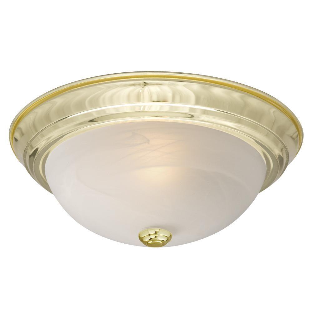 Filament Design Negron 2-Light Polished Brass Incandescent Flush Mount