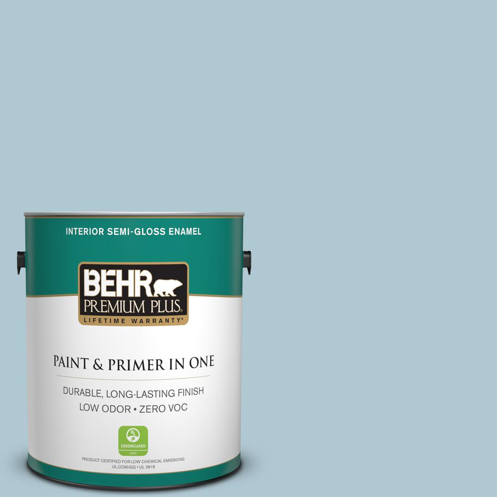 1-gal. #S470-2 Gentle Sea Semi-Gloss Enamel Interior Paint