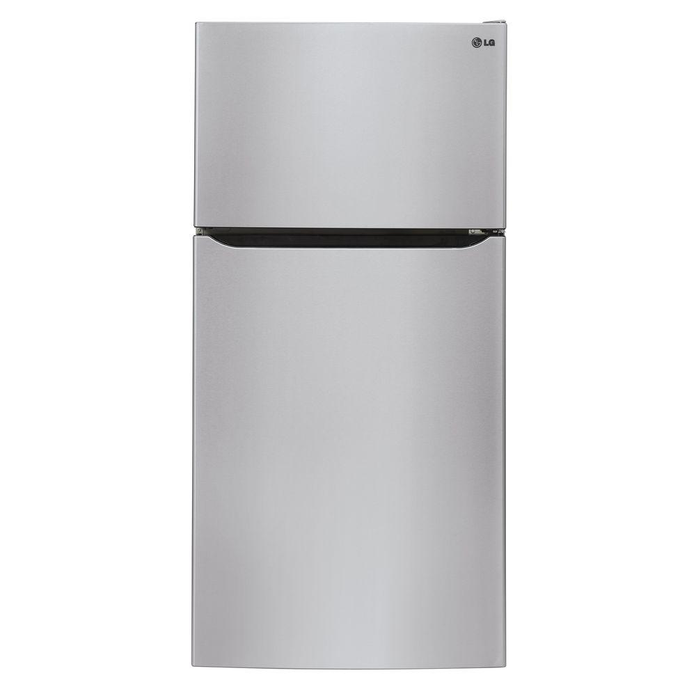 LG 30 in. W 20 cu. ft. Top Freezer Refrigerator in Stainl...