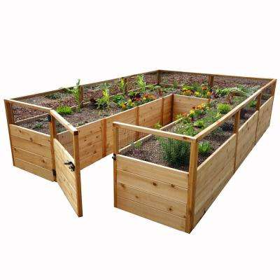 8 ft. x 12 ft. Cedar Raised Garden Bed