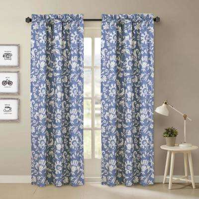Porcelain Blue and White Window Pair Panels - 84 in. L x 40 in. W