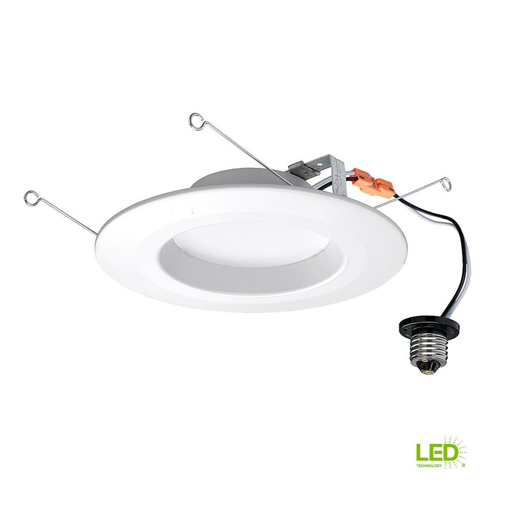 Commercial Electric 5 in. and 6 in. White Integrated LED ...