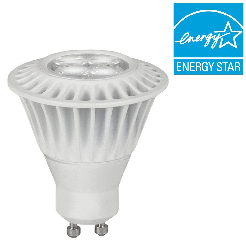 TCP 35W Equivalent Soft White (2700K) MR16 GU10 Dimmable LED Narrow Flood Light Bulb