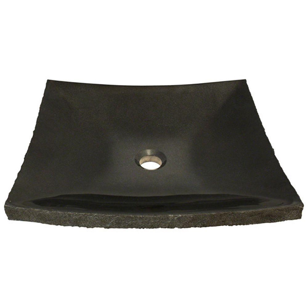 Stone Vessel Sink in Shanxi Black Granite