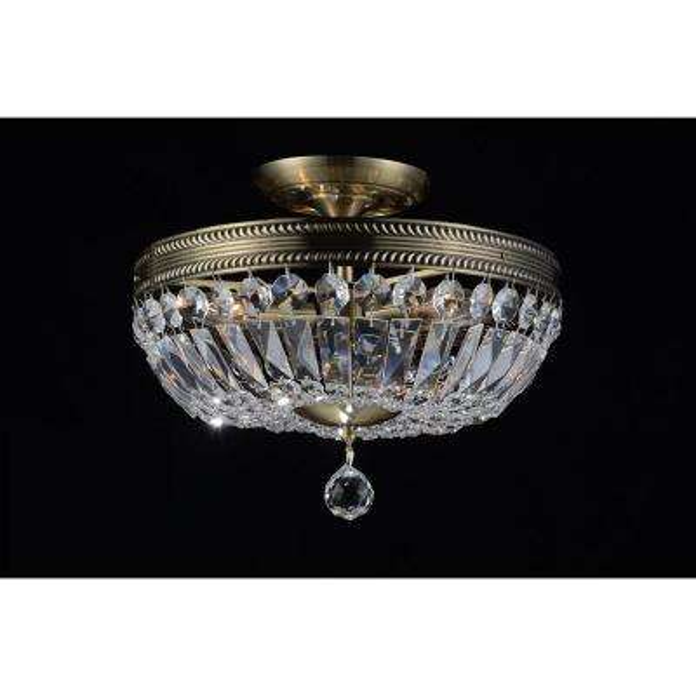 Cornelius 3-Light Antique Brass Semi-Flush Mount