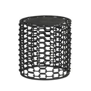 Noble House Fenelon 14.75 in. Textured Black Side Table 69971