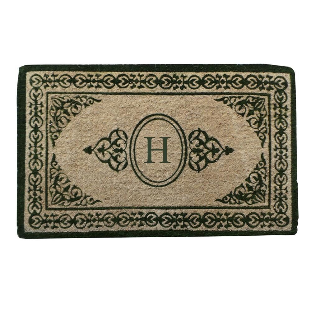 A1HC First Impression Decorative Border Green Filigree 22 in. x 36