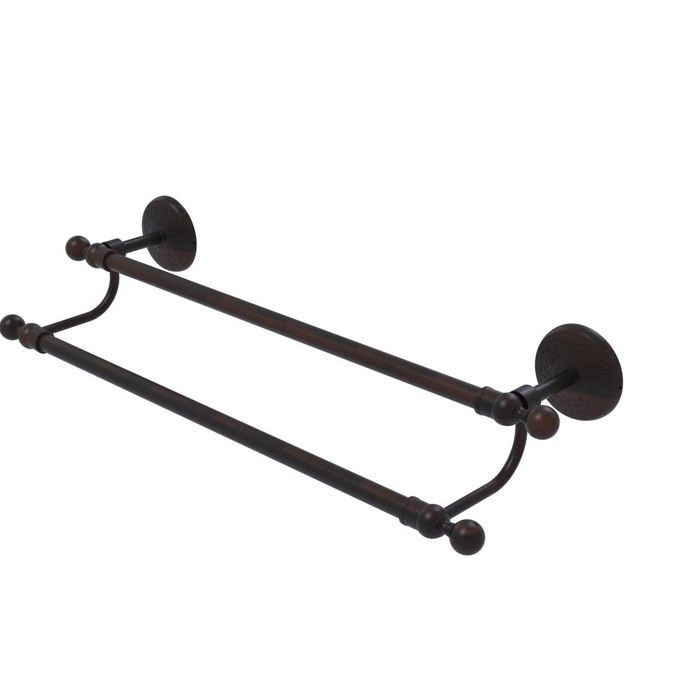 Monte Carlo Collection 24 in. Double Towel Bar in Venetian Bronze