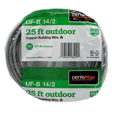 25 ft. 14/2 UF-B Cable
