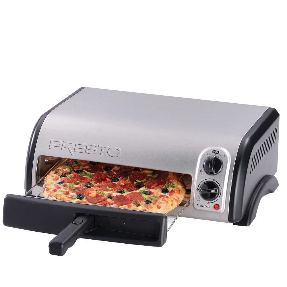 Presto countertop pizza oven 03436 the home depot for Perfect bake pro review
