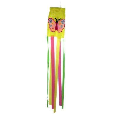 36 in. Butterfly Multi-Color Garden Wind Sock