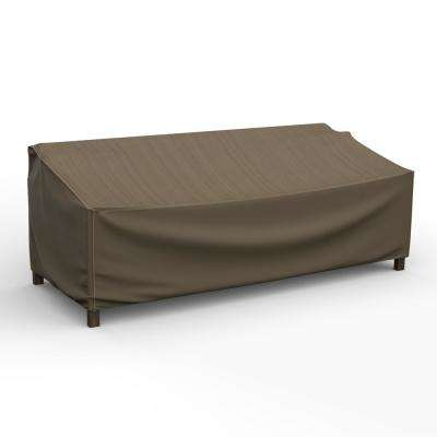 NeverWet Hillside Large Black and Tan Patio Sofa Cover