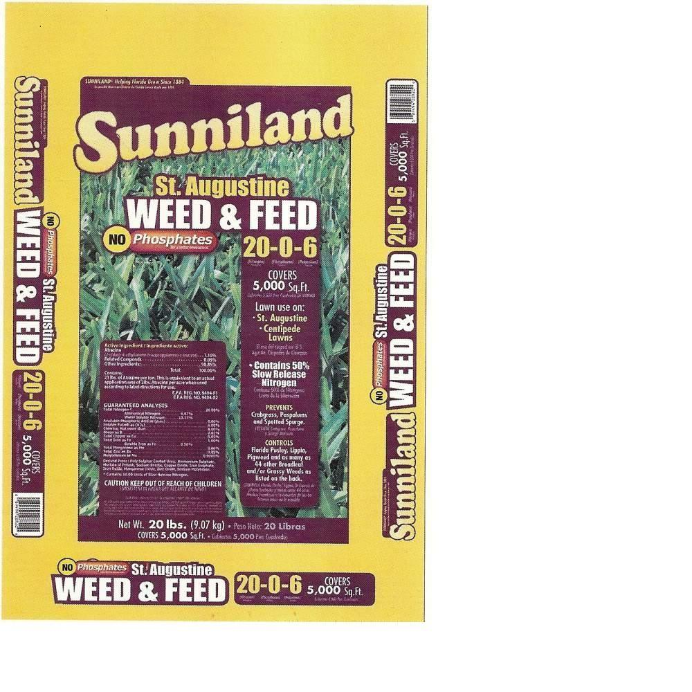 Sunniland 20 Lb St Augustine Weed And Feed 128820 The Home Depot