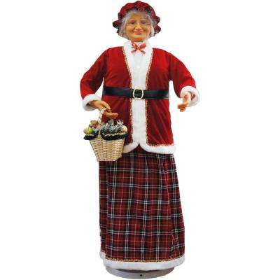 58 in. Christmas Dancing Mrs. Claus with Basket