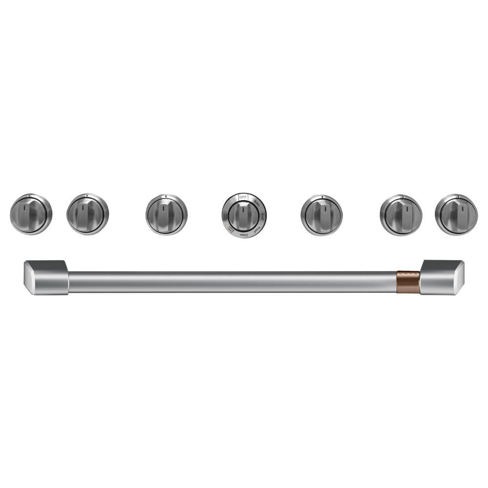Gas Range Handle and Knob Kit in Brushed Stainless