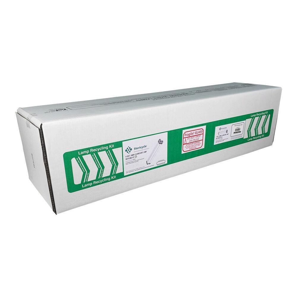 4 Foot Jumbo Lamp Box 9 ( Bundle of 10 boxes, total capacity 680 T12 or 1450 T8 )