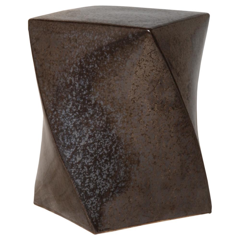 Twist Gunmetal Ceramic Garden Stool