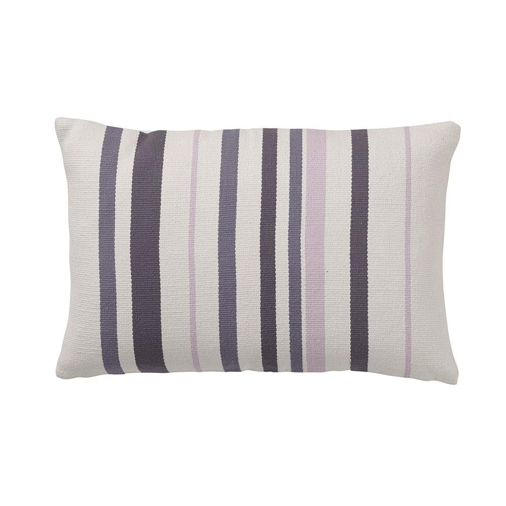 Brooklyn 16 in. x 24 in. Quartz Striped Pillow Cover